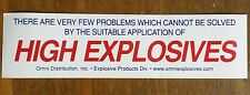 New listing Bumper Sticker Omni Explosives Mining, Law Enforcement, Military Demolition