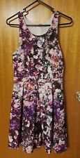 Forever New Purple Floral Dress Size 8