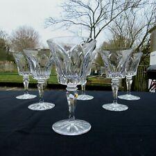 6 verres a eau en cristal de saint louis modèle Camargue signé H 17 cm