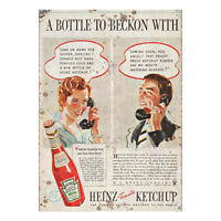 Heinz Ketchup Metal Wall Plaque Vintage Advertising Sign Shed Workshop Classic