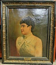 1900-1949 Original Signed Lady With Pearl Alfred Renz Europe Medium Portraits