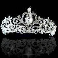 Bridal Princess Stunning Austrian Crystal Crown Hair Tiara Wedding Veil Headband
