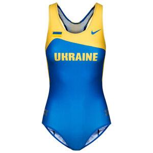 Ukraine Nike Leotard Damen Leichtathletik Gymnastik Einteiler 713709 Gr. S neu