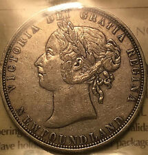 1882H NEWFOUNDLAND SILVER 50 CENTS ICCS CERTIFIED VF-30