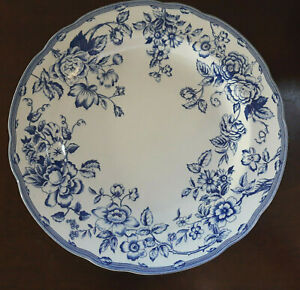 """Vintage Spode Clifton blue and white 10.25"""" Dinner Plate (Laura Ashley)"""