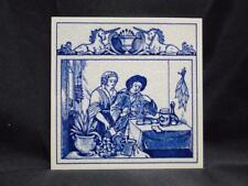 Royal Delft Pill / Apothecary / Pharmacy Tile: The Herbalist, BW-1139