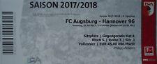 TICKET BL 2017/18 FC Augsburg - Hannover 96