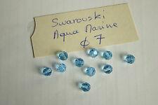 lot de 20 perle en cristal de SWAROVSKI aqua marine bleu diam 7 mm