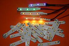 LOT de 20 ÉCLAIRAGES à LED 12V 4 COULEURS  pour maquettes ou autres applications