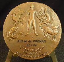 Medaille Fisch Adler Bock Eidechse Eidechse-Ziege Tier fc Guiraud 铜牌鹰鱼蜥蜴山羊