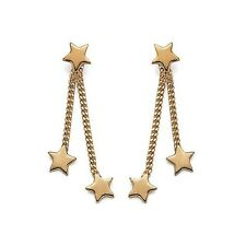 New Gold Plated Rings Woman pending Chain+Star
