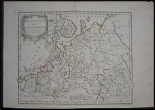 1778 Original Vaugondy Map North Russia Estonia Latvia