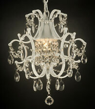 Wrought iron chandeliers ebay white wrought iron crystal chandelier lighting country french aloadofball Gallery