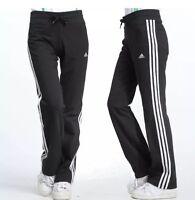 adidas ESS 3S KN Womens Tracksuit Bottom Black Sweat Pants joggers BNWT