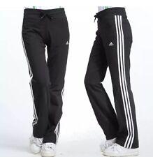 adidas ESS 3s KN Womens Tracksuit Bottoms UK 4 to 26 Black Sweat Pants Joggers M Black