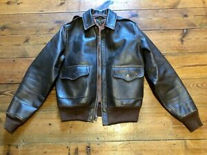 EASTMAN LEATHER A2 FLIGHT JACKET PEARL HARBOR RARE SIZE 34 HORSEHIDE