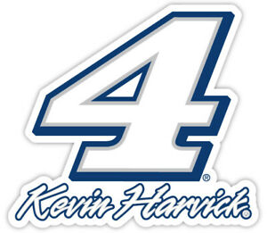 NASCAR Driver Number Decal-Kevin Harvick #4 Die Cut Sticker