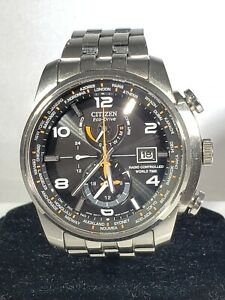 CITIZEN ECO-DRIVE WORLD TIME RADIO CONTROLLED WATCH MENS H820