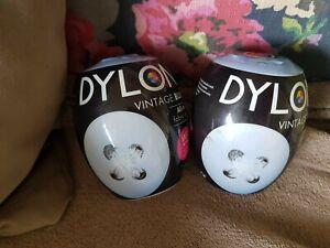X2 Dylon Fabric & Clothes Dye, Dylon Machine / Hand Dye Vintage Blue NEW