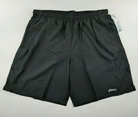 Asics Mens Distance Running Gym Shorts W/Pockets Liner Drawstring Black Size XL