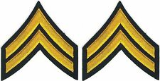 Military Army Pair E4 Corporal Rank Insignia patches