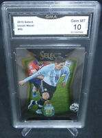 2015 Select Lionel Messi Striped Jersey Card #65 GMA Graded Gem Mint 10 ARGENTNA