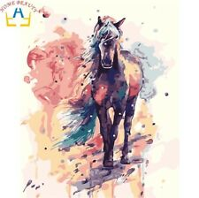 DIY Canvas oil Painting Paint By Numbers For Wall ART Kit Include Colours+brush
