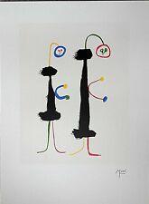"JOAN MIRO ORIGINAL PLATE SIGNED LITHOGRAPH- ""PARLER SEUL"""