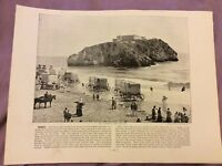 Antique Book Print - Tenby - UK - c. 1895