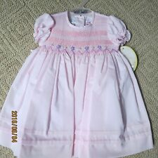 Will'beth dress 6 month pink w/smocking, new w/tags,lined w slip