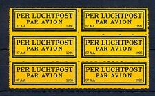 NEDERLAND 1926  KLM   AIRMAIL LABEL  (37 AA )  PANE OF 6  ** MNH   @25