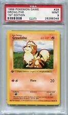 Pokemon Base Set 1st Edition Shadowless Card #28 Growlithe PSA 9