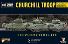 28mm Warlord British Churchill Troop (3Tanks) Bolt Action WW2, BNIB Great Value!