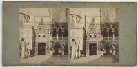 Venezia Venzia Entrée Palais Ducale Italia Foto Stereo Vintage Albumina c1860