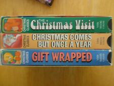LOT OF 3 CHRISTMAS CLASSIC VCR TAPES VHS GIFT WRAPPED CHRISTMAS VISIT SANTA