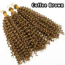 Natural Water Wave Crochet Braids Long Deep Curly 10% Human Hair Extensions US H