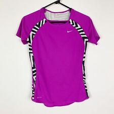NIKE Women's Dri Fit Short Sleeve Purple Fitness T Shirt Size XS