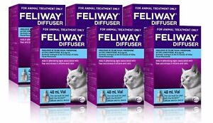 Feliway 48mL Diffuser Refill 6 Pack - Constant Calming and Comfort for Cats