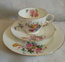 Pretty vintage crescent china Junetime tea cup saucer plate trio George Jones