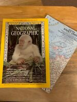 National Geographic YEAR 1967 MARCH W/Map Of Siberia,Squids,Guadalajara