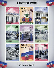 Haiti Medical Stamps 2010 MNH Earthquake Post Office Architecture 7v M/S II