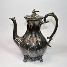 Antique 1840-90 Victorian John Harrison Sheffield Coffee Pot Falcon finial RARE!
