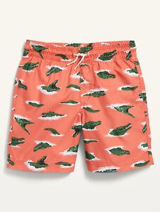 Old Navy Kid Boys Printed Alligator Swim Trunks Shorts Size XL (14-16)