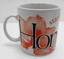 Starbucks Hong Kong City Series 16 oz Coffee Mug 2002 Jan Belson Red Orchid