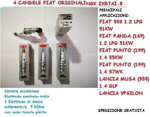 4 Candele ORIG.NGK ZKR7AI-8Fiat 500 Panda Punto Musa Ypsilon 1,2-1,4Gpl 55232360
