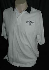 Vintage Jack Daniels Old No. 7 White With Black Polo Style Shirt Men's Large