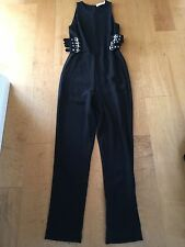 A.L.C. GREG BUCKLE BLACK CREPE JUMPSUIT ROMPER SIZE 4  REAL HOUSEWIVES BH WORE