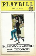 BERNADETTE PETERS/MANDY PATINKIN-SUNDAY IN THE PARK WITH GEORGE-1984 PLAYBILL