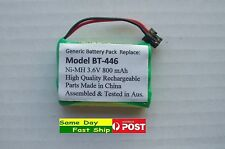 BT-446 BT-909 3.6V 800mAh Rechargeable Ni-MH Battery 4.3 cm for Uniden AU Local