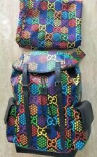 Gucci Psychedelic Black GG Medium Supreme Italy Travel Backpack 1 Dustbag NEW